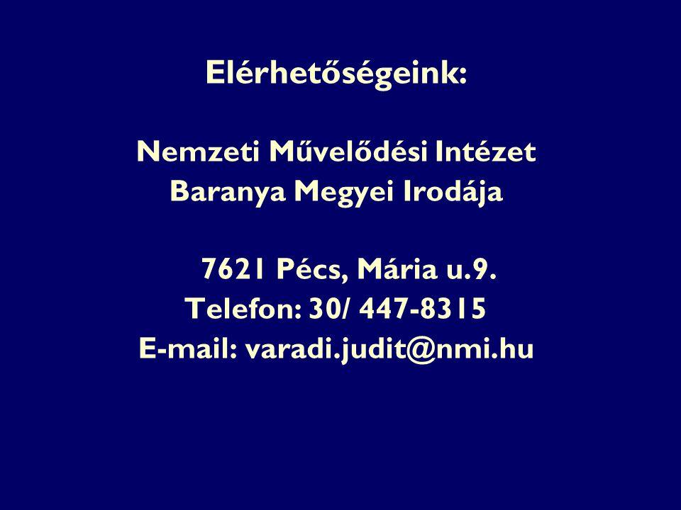 Elérhetőségeink: 7621 Pécs, Mária u.9.