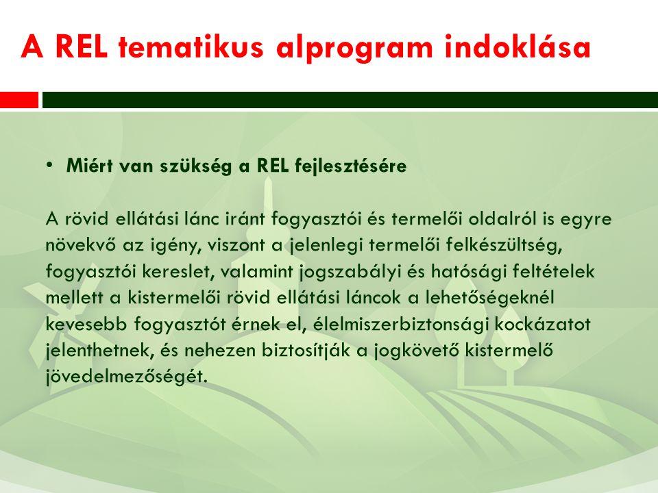 A REL tematikus alprogram indoklása