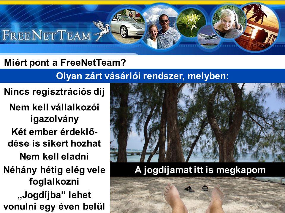 Miért pont a FreeNetTeam Olyan zárt vásárlói rendszer, melyben: