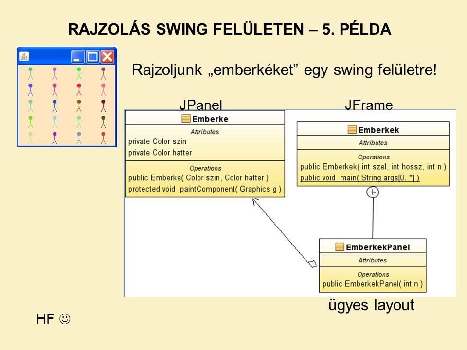 RAJZOLÁS SWING FELÜLETEN – 5. PÉLDA