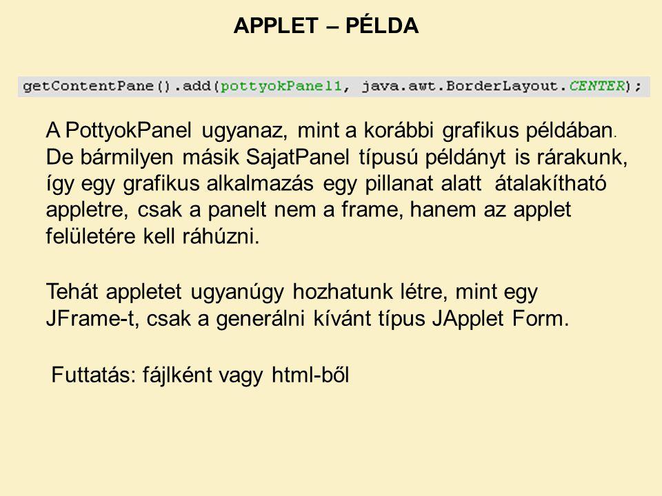 APPLET – PÉLDA