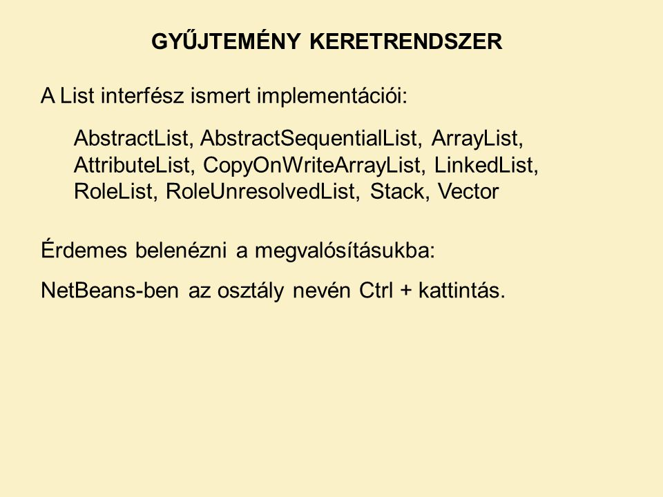 GYŰJTEMÉNY KERETRENDSZER