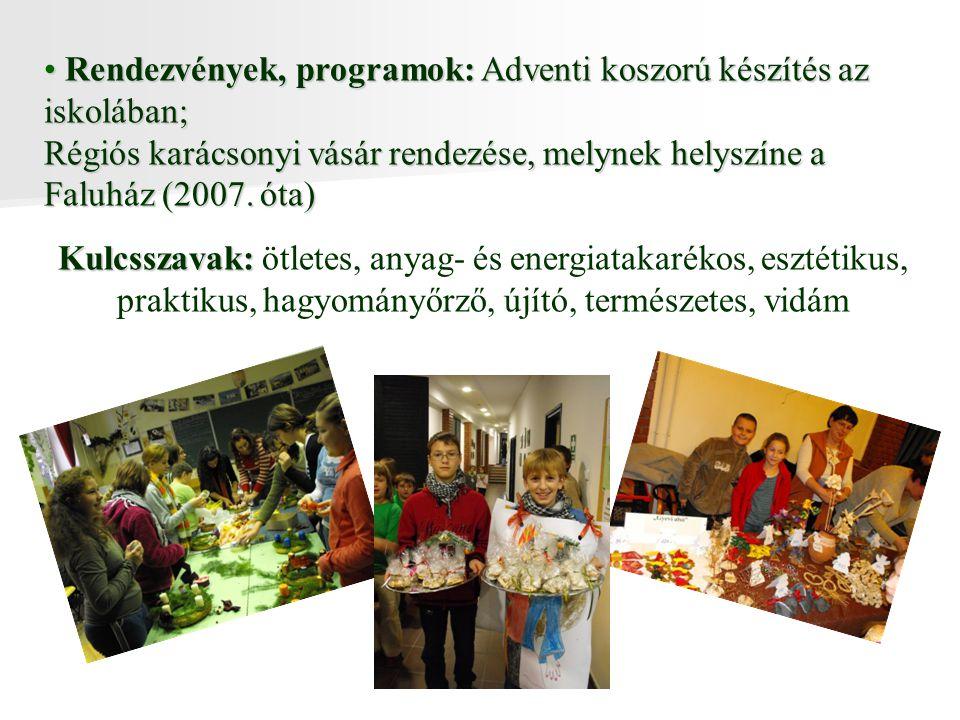 Rendezvények, programok: Adventi koszorú készítés az iskolában;