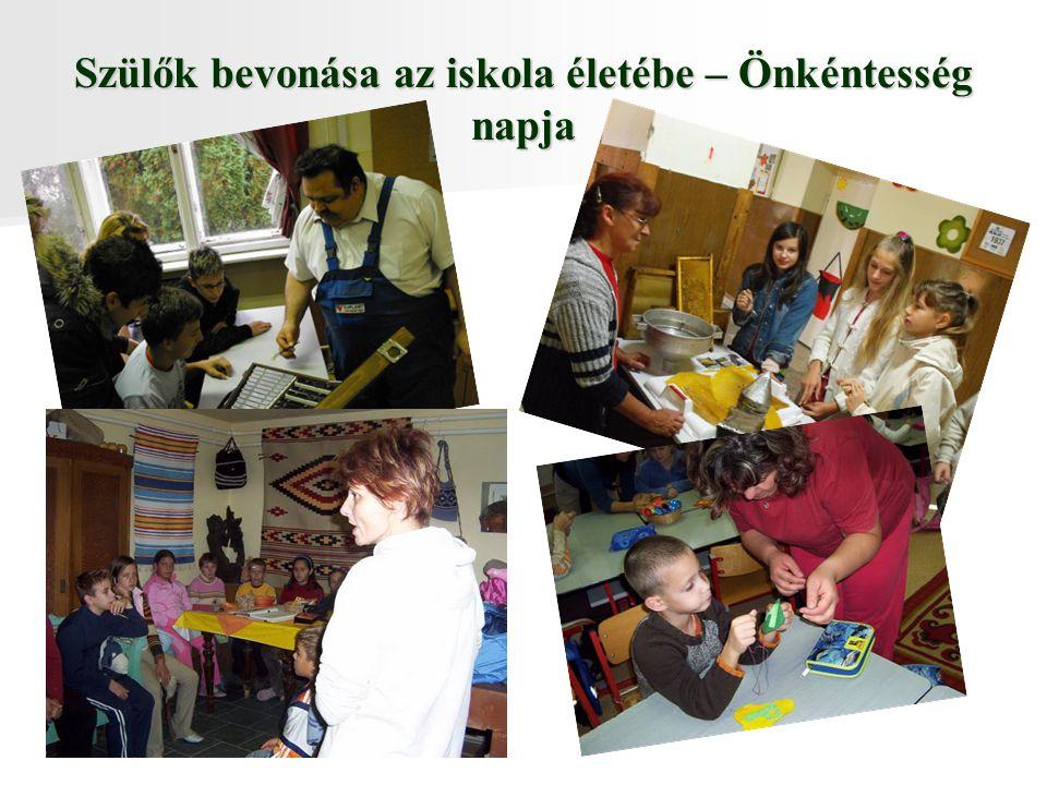 Szülők bevonása az iskola életébe – Önkéntesség napja
