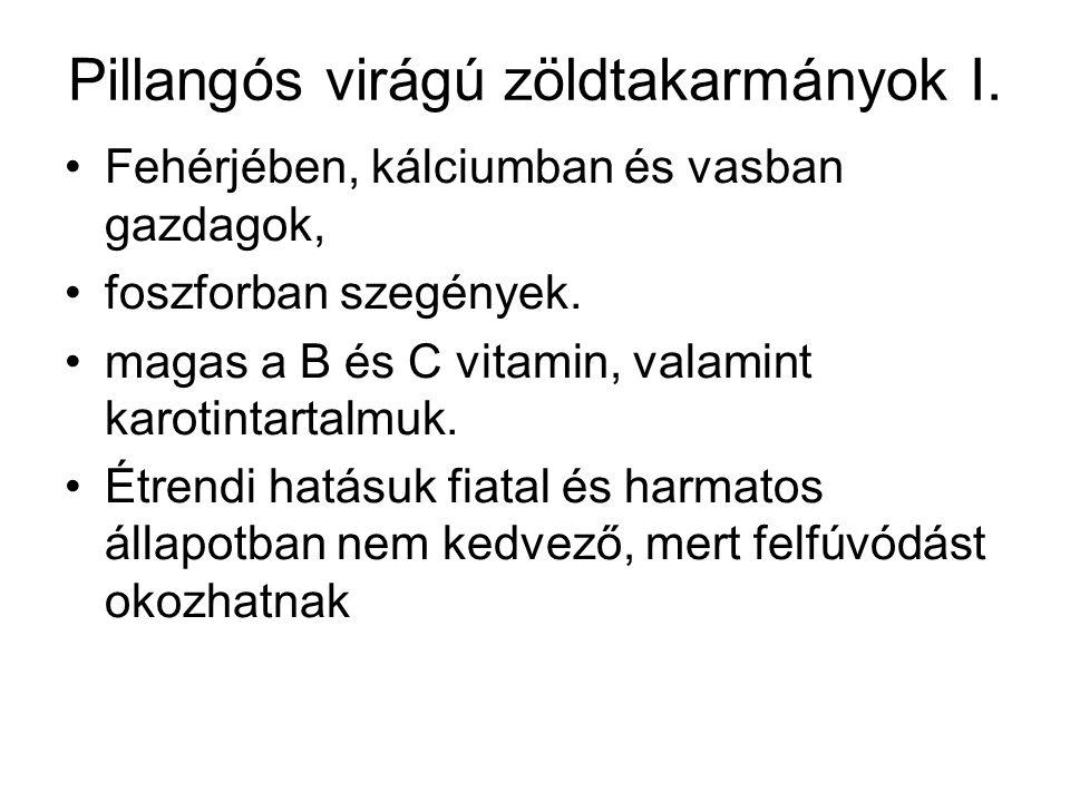 Pillangós virágú zöldtakarmányok I.
