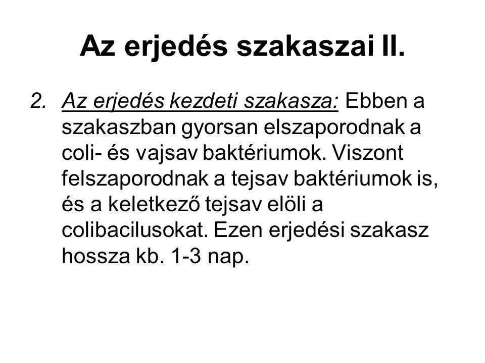 Az erjedés szakaszai II.