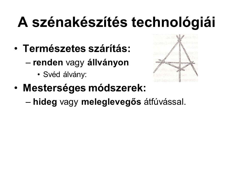 A szénakészítés technológiái