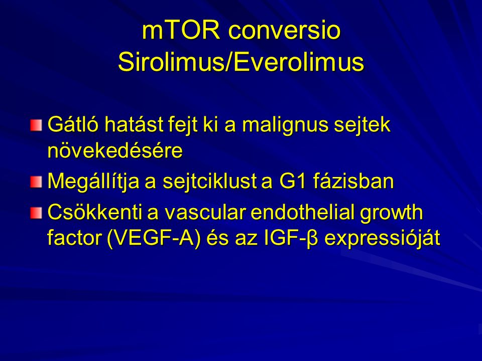 mTOR conversio Sirolimus/Everolimus