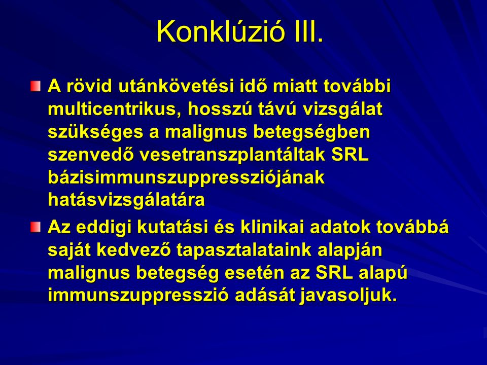 Konklúzió III.