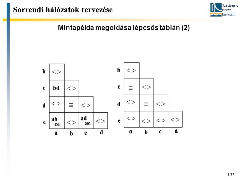 Mintapélda megoldása lépcsős táblán (2)