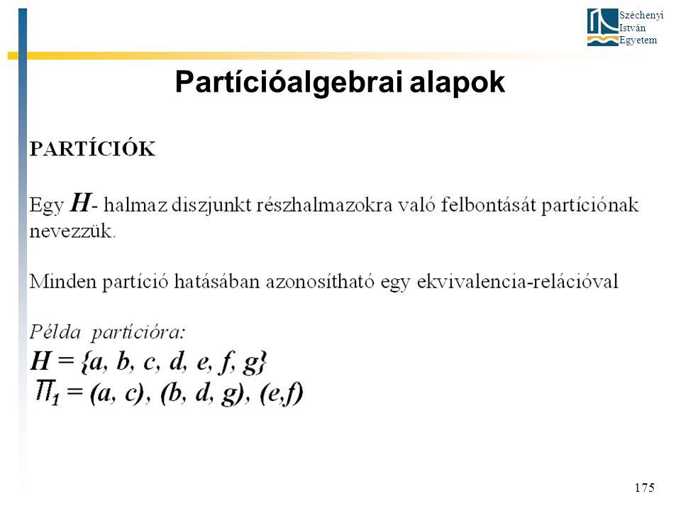 Partícióalgebrai alapok