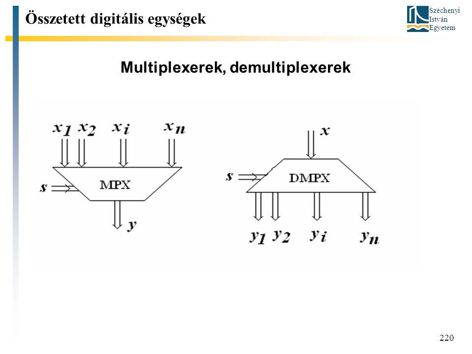 Multiplexerek, demultiplexerek