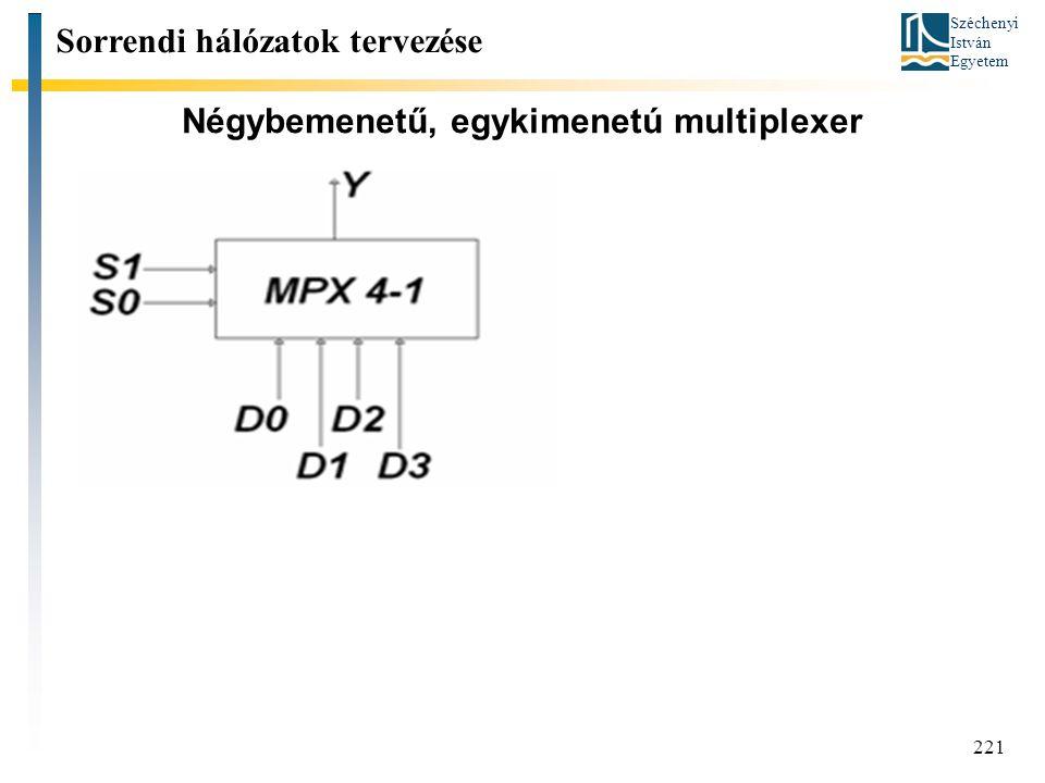 Négybemenetű, egykimenetú multiplexer