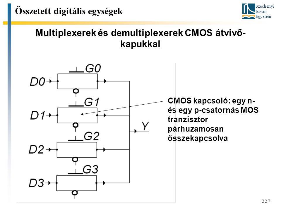 Multiplexerek és demultiplexerek CMOS átvivő-kapukkal