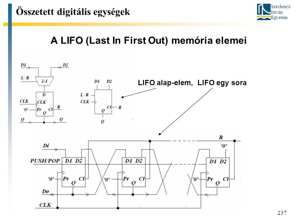 A LIFO (Last In First Out) memória elemei