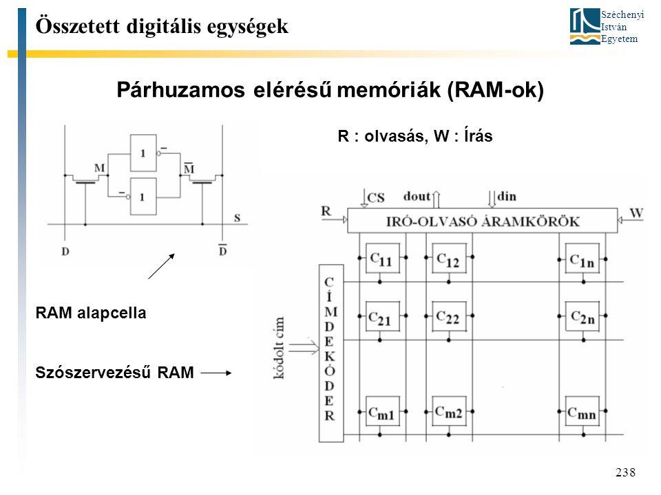 Párhuzamos elérésű memóriák (RAM-ok)