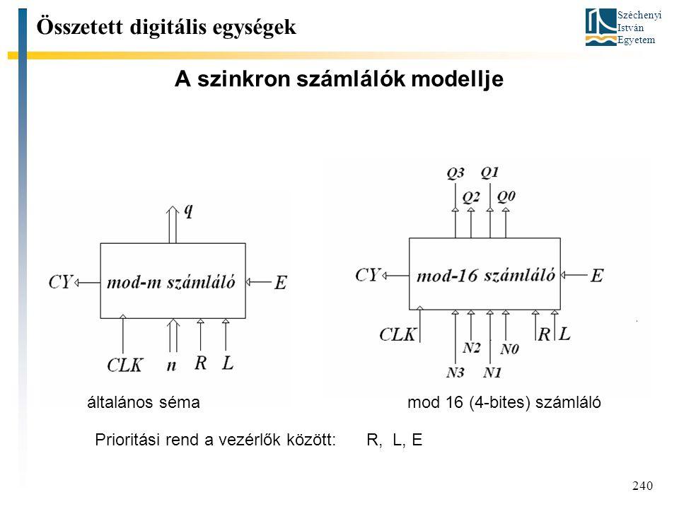 A szinkron számlálók modellje