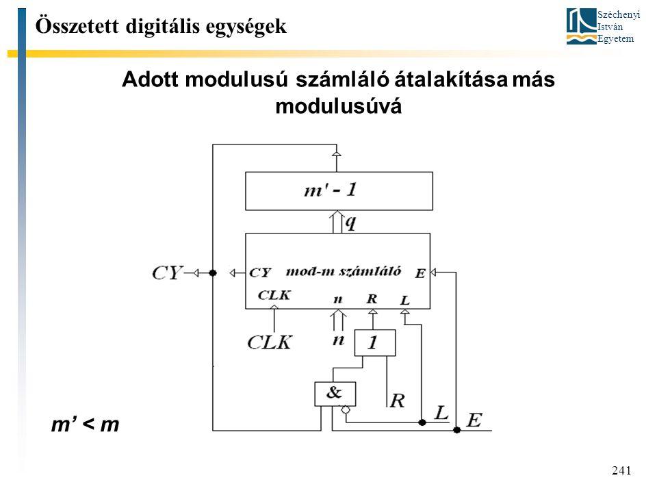 Adott modulusú számláló átalakítása más modulusúvá