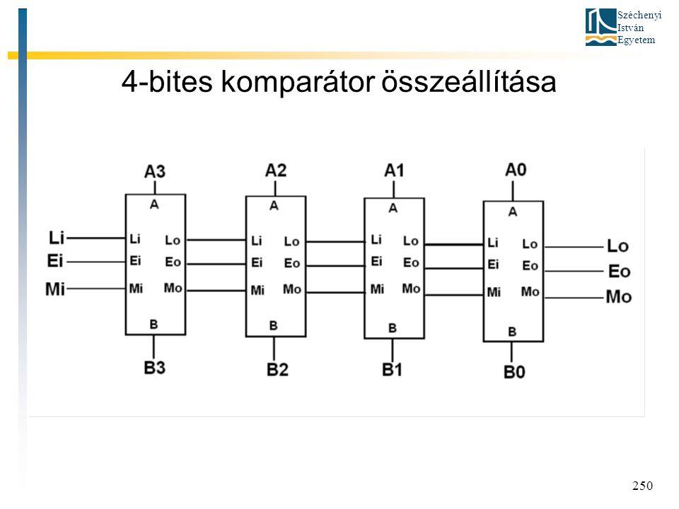 4-bites komparátor összeállítása