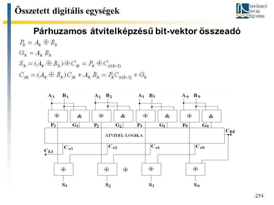 Párhuzamos átvitelképzésű bit-vektor összeadó