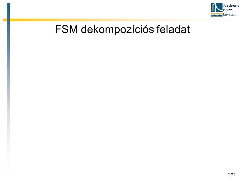 FSM dekompozíciós feladat