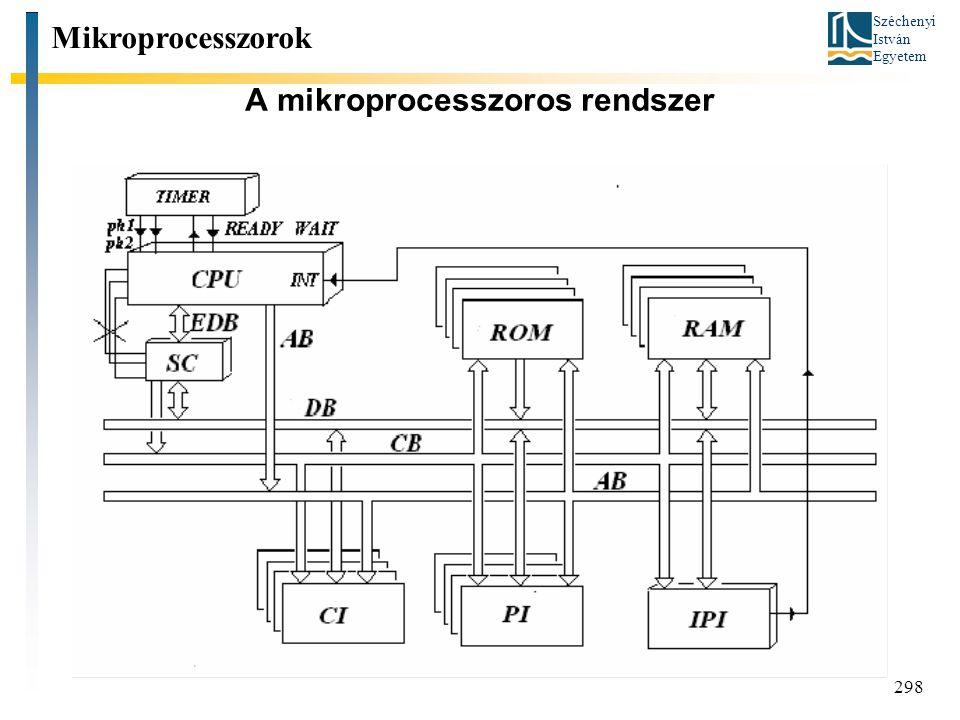 A mikroprocesszoros rendszer