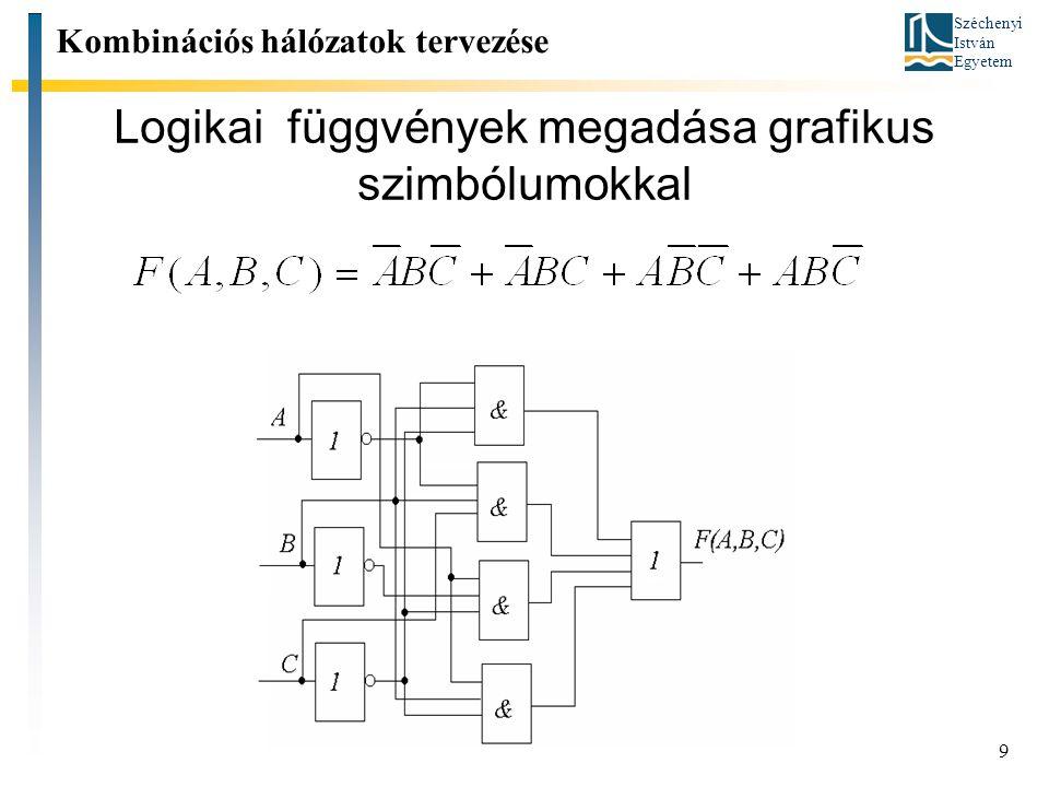 Logikai függvények megadása grafikus szimbólumokkal