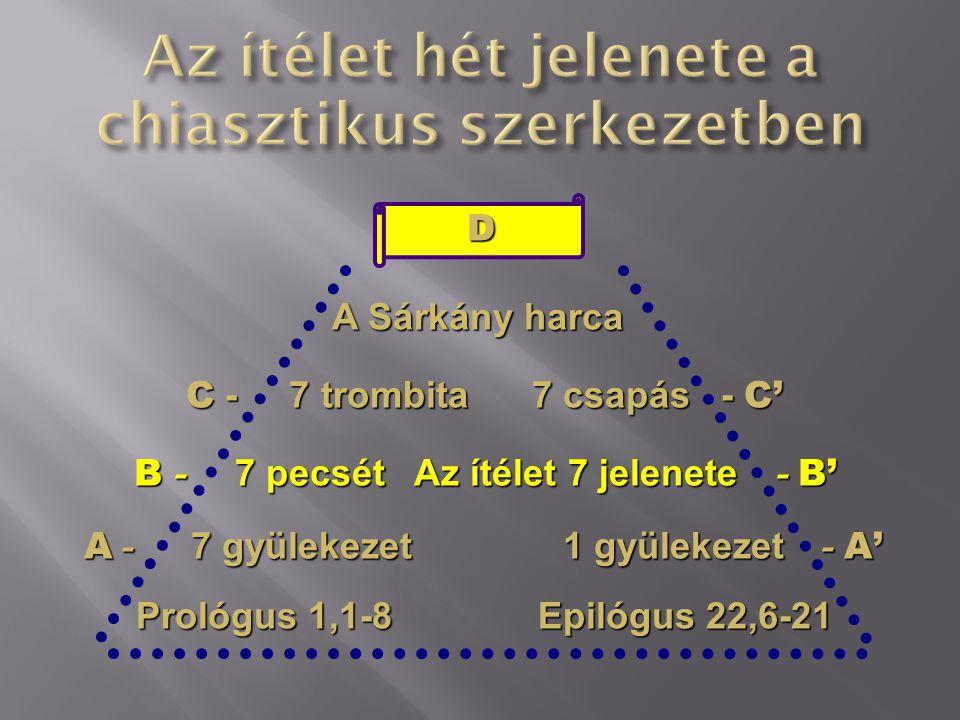 Az ítélet hét jelenete a chiasztikus szerkezetben