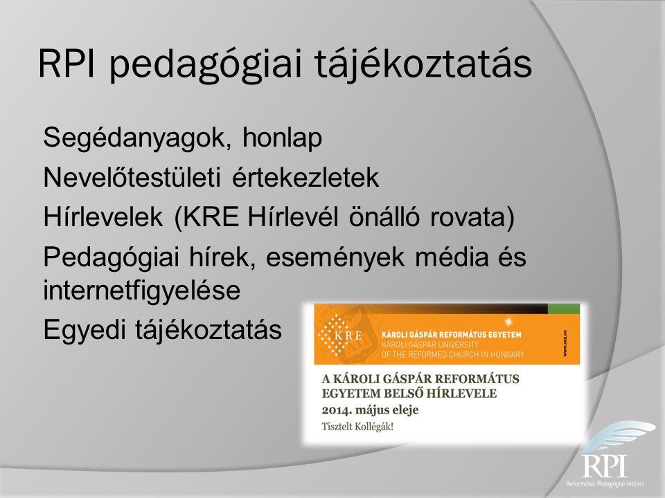 RPI pedagógiai tájékoztatás