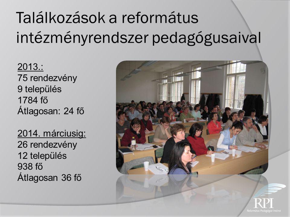 Találkozások a református intézményrendszer pedagógusaival