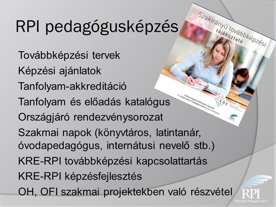 RPI pedagógusképzés