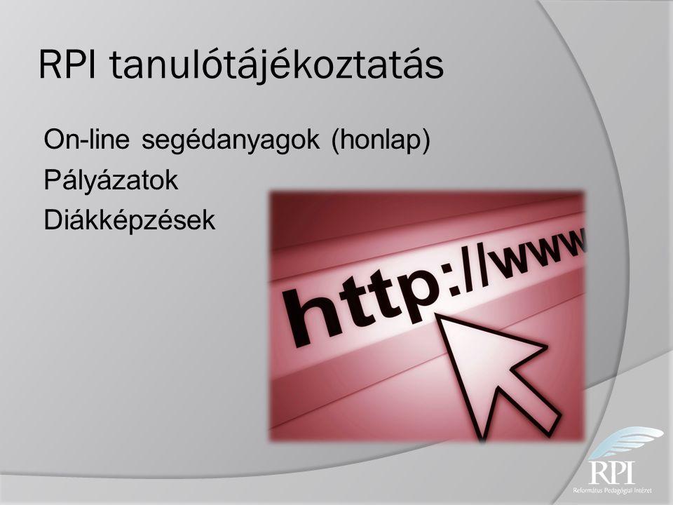 RPI tanulótájékoztatás