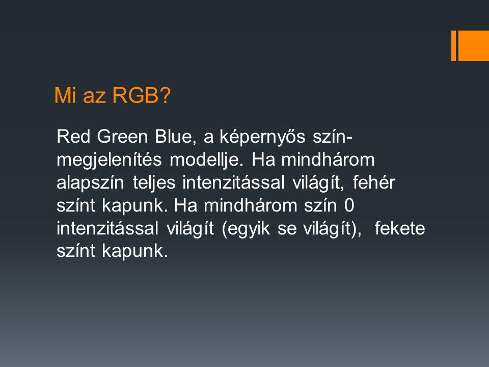 Mi az RGB