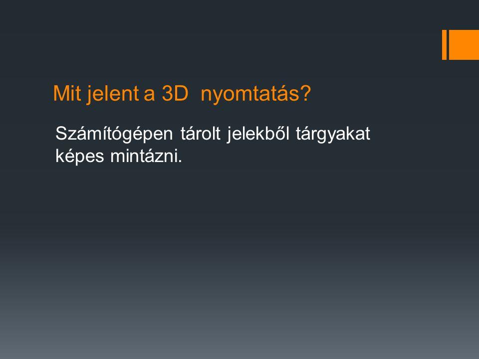 Mit jelent a 3D nyomtatás