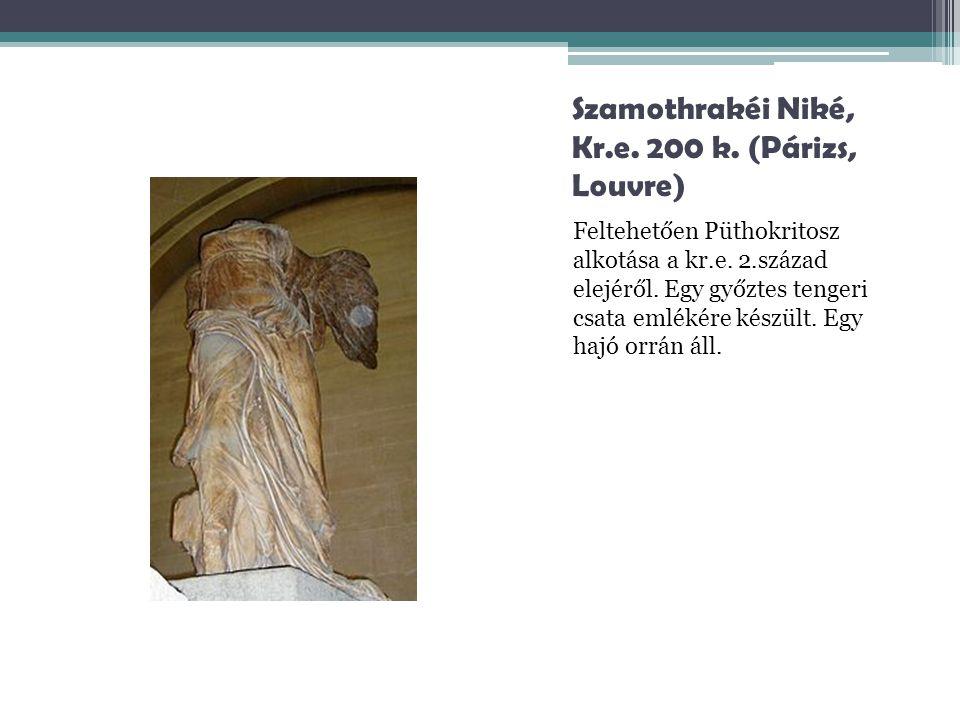 Szamothrakéi Niké, Kr.e. 200 k. (Párizs, Louvre)
