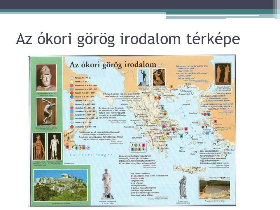 Az ókori görög irodalom térképe