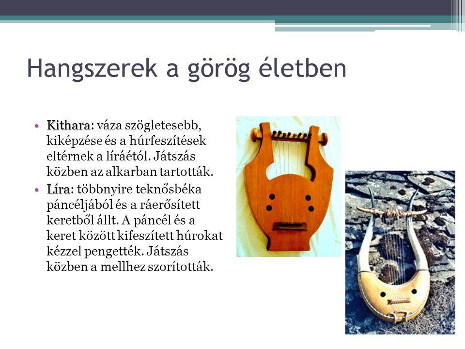 Hangszerek a görög életben