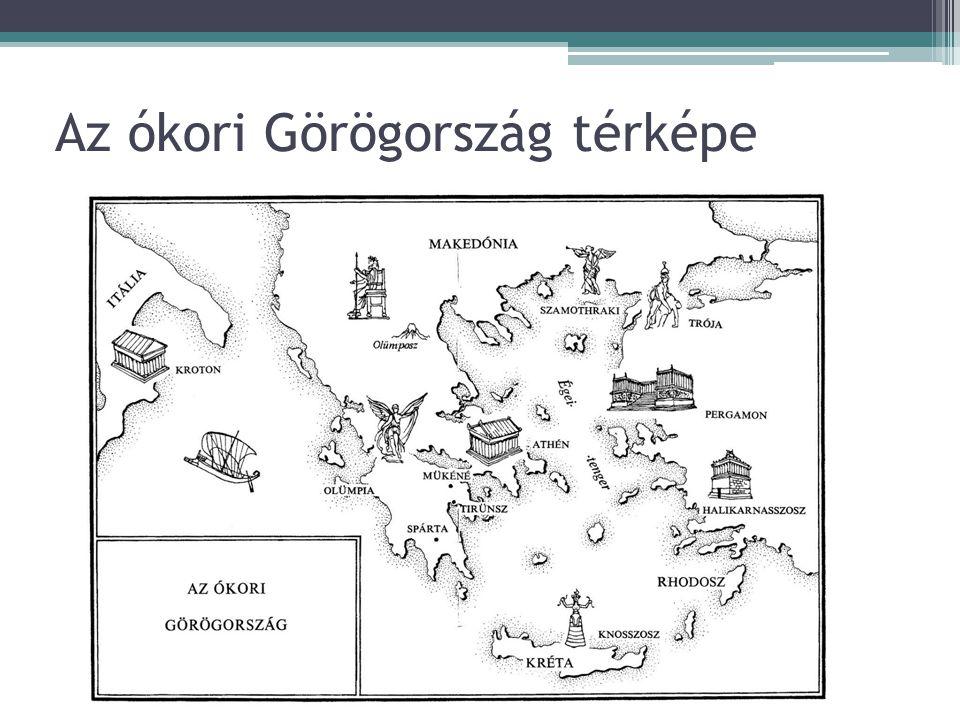 Az ókori Görögország térképe