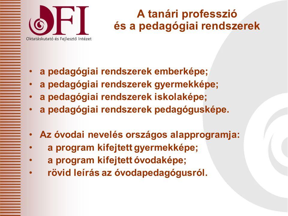 A tanári professzió és a pedagógiai rendszerek