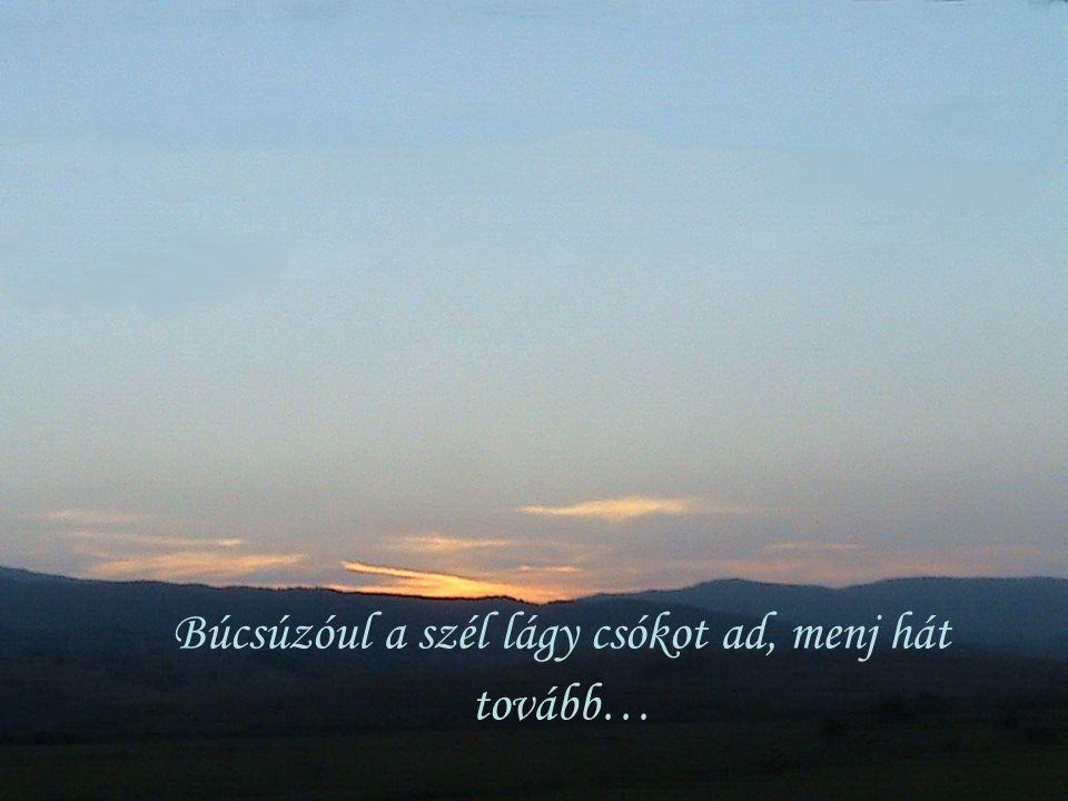 Búcsúzóul a szél lágy csókot ad, menj hát tovább…