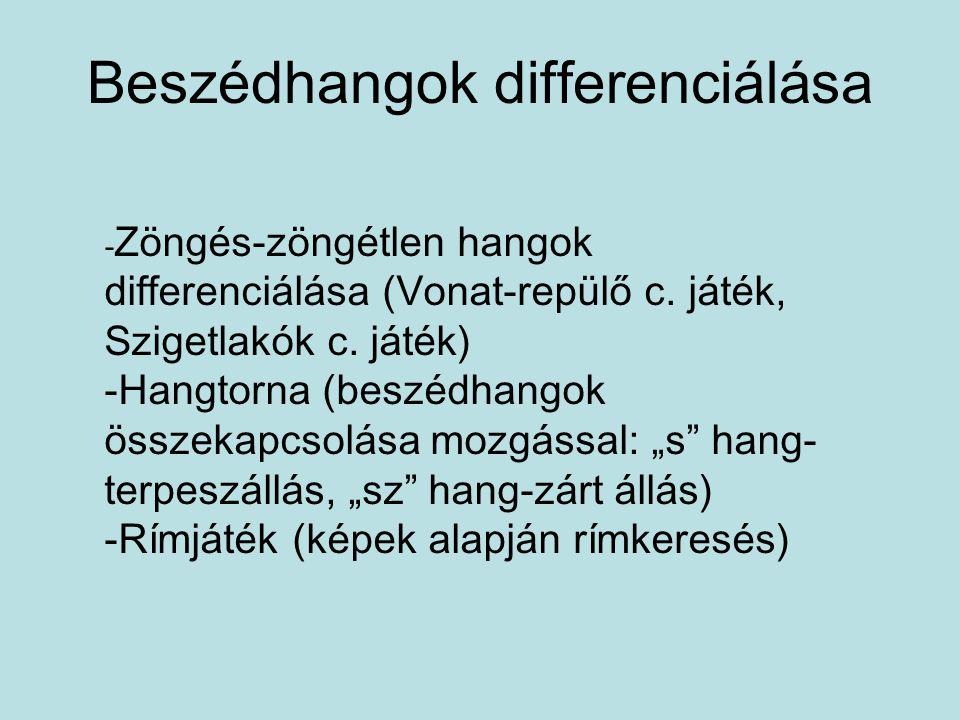 Beszédhangok differenciálása