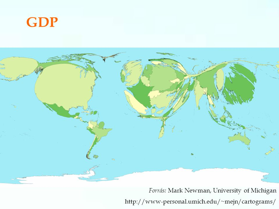 GDP Forrás: Mark Newman, University of Michigan