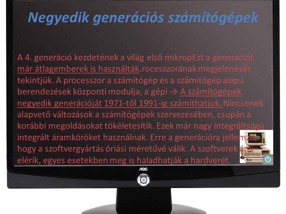 Negyedik generációs számítógépek