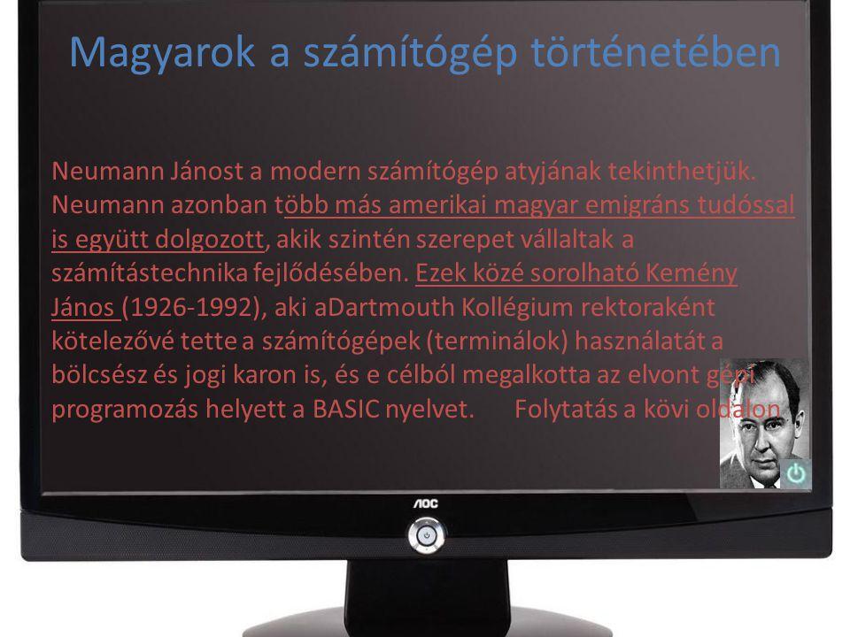Magyarok a számítógép történetében