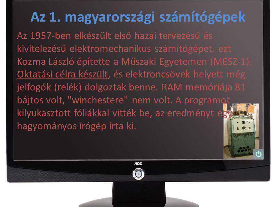 Az 1. magyarországi számítógépek