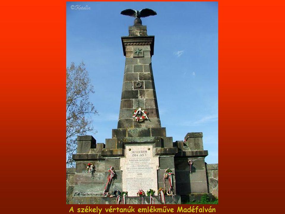A székely vértanúk emlékműve Madéfalván