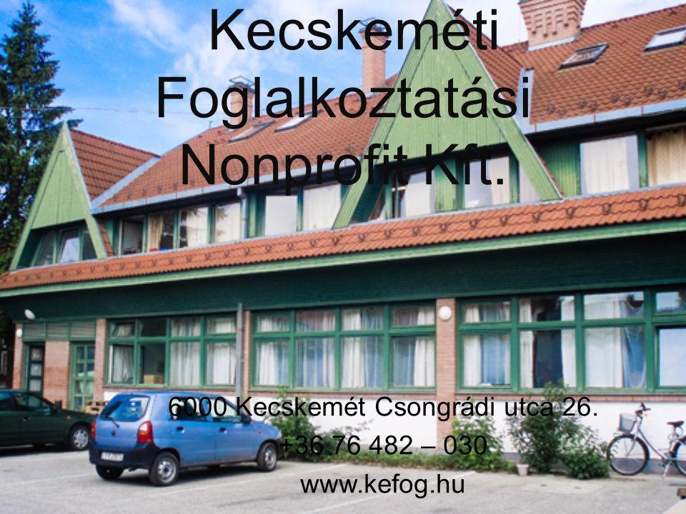 Kecskeméti Foglalkoztatási Nonprofit Kft.