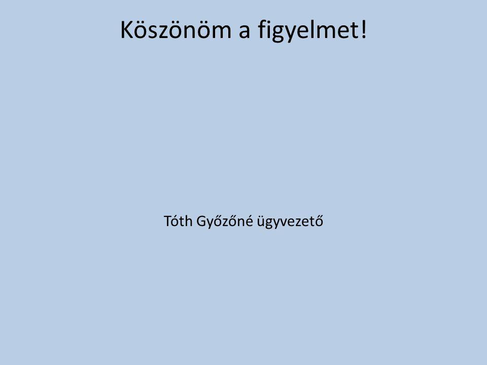 Tóth Győzőné ügyvezető