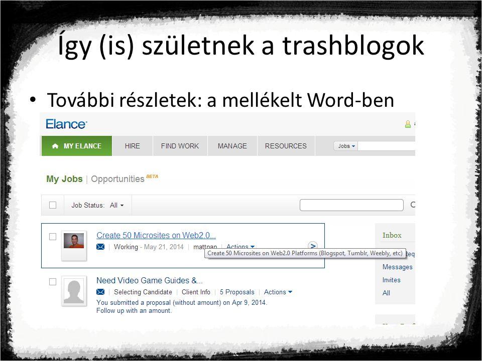 Így (is) születnek a trashblogok