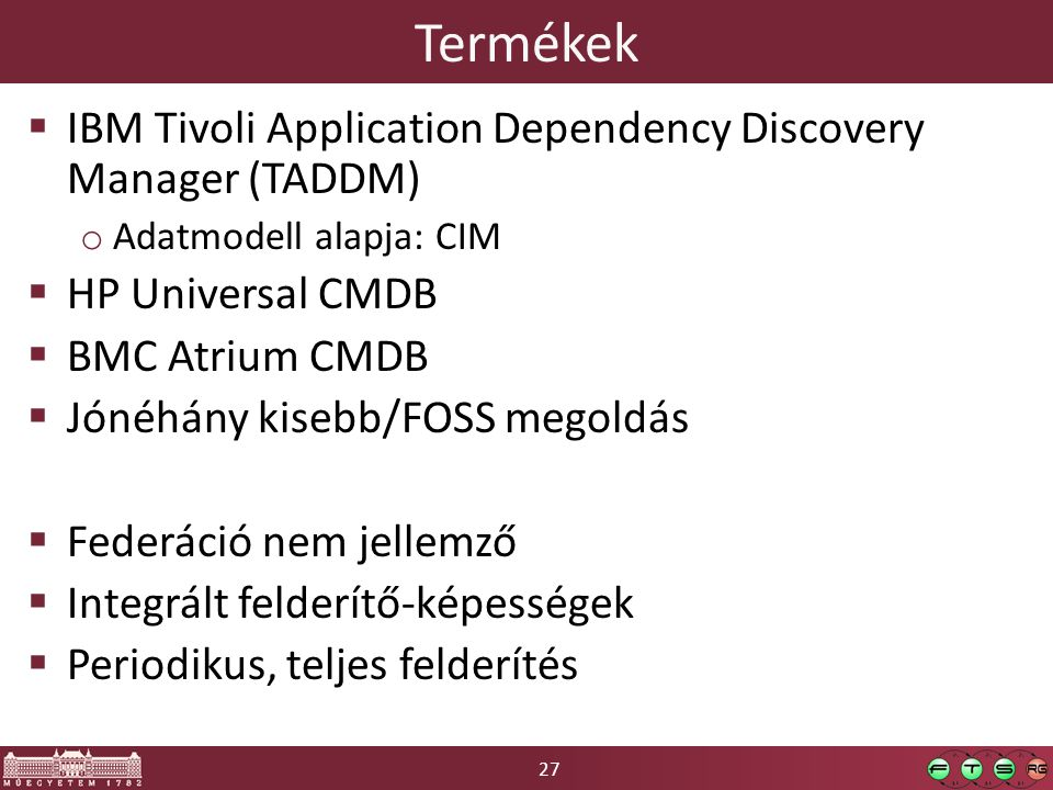 Termékek IBM Tivoli Application Dependency Discovery Manager (TADDM)